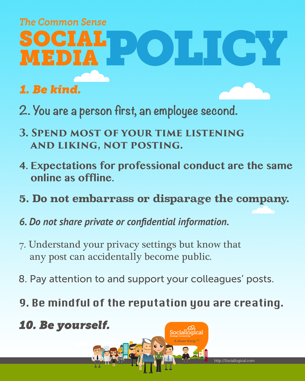 employee social media policy template - the 10 point social media policy everyone will understand