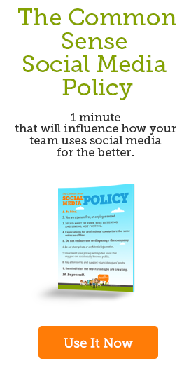 The Common Sense Social Media Policy