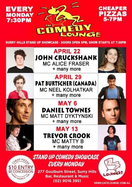 Comedy poster april may 2013