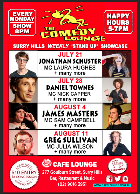 comedy lounge poster august 2014