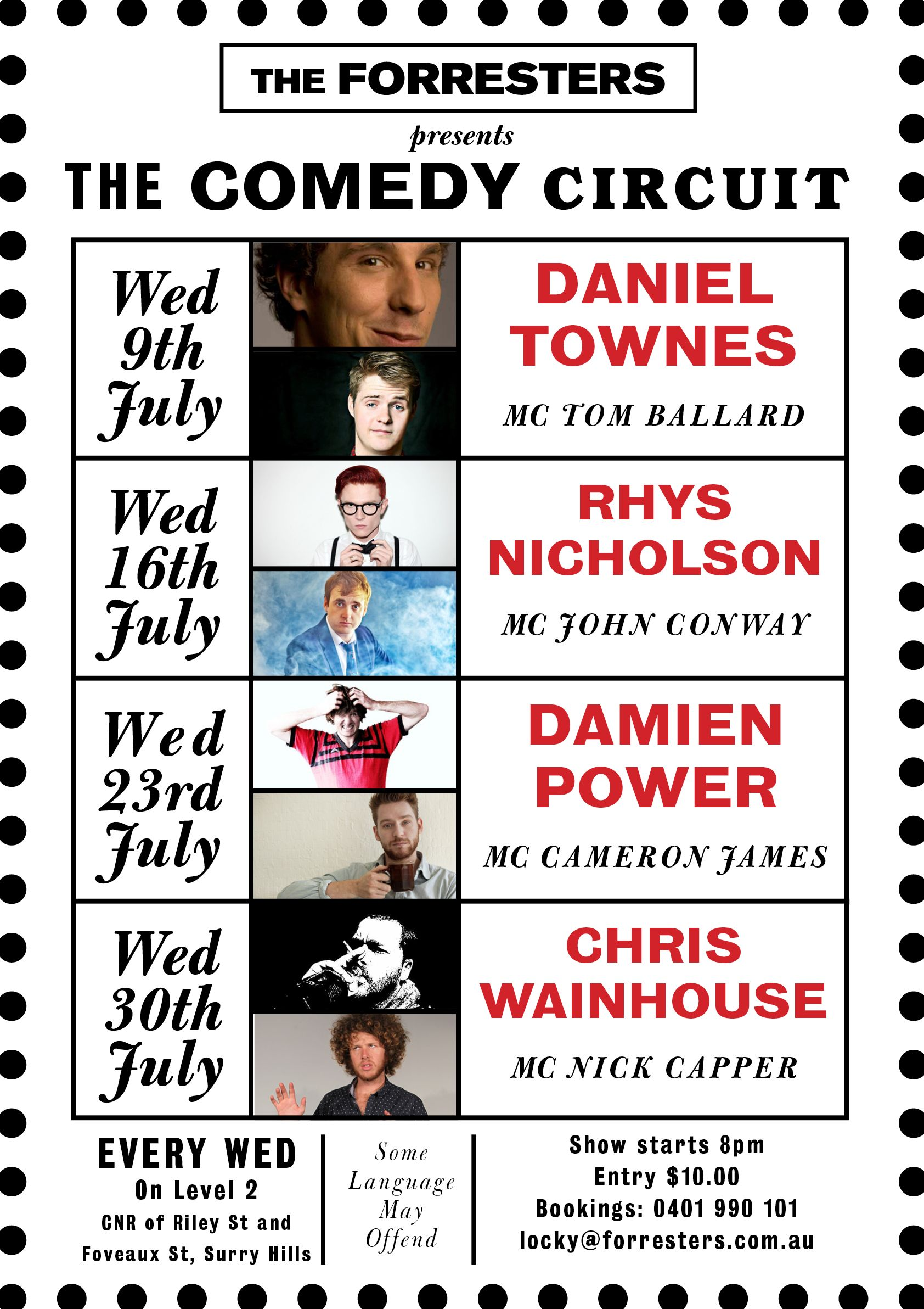the comedy circuit july