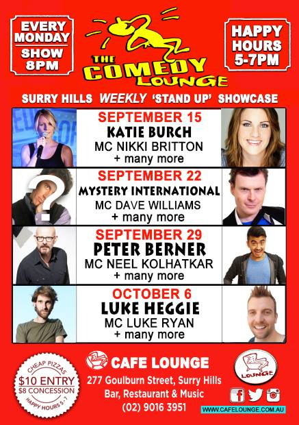 Comedy Lounge Sept : October