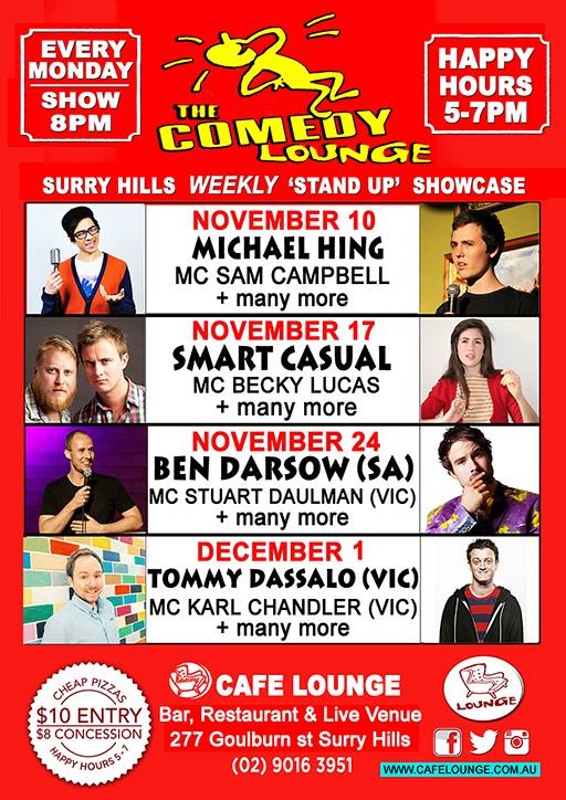 November December comedy lounge
