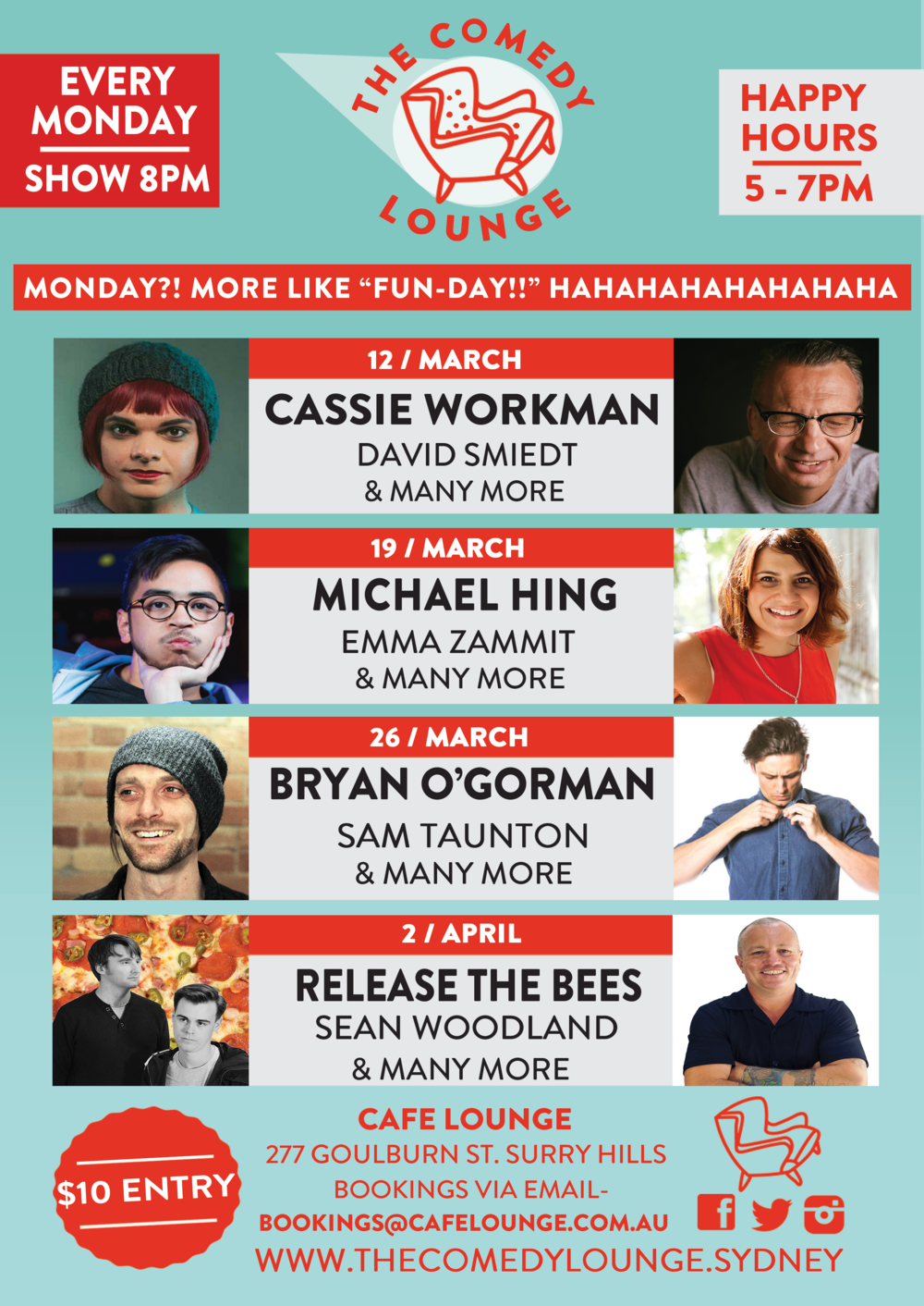 March bring plenty of Comedy gold your way to be sure!