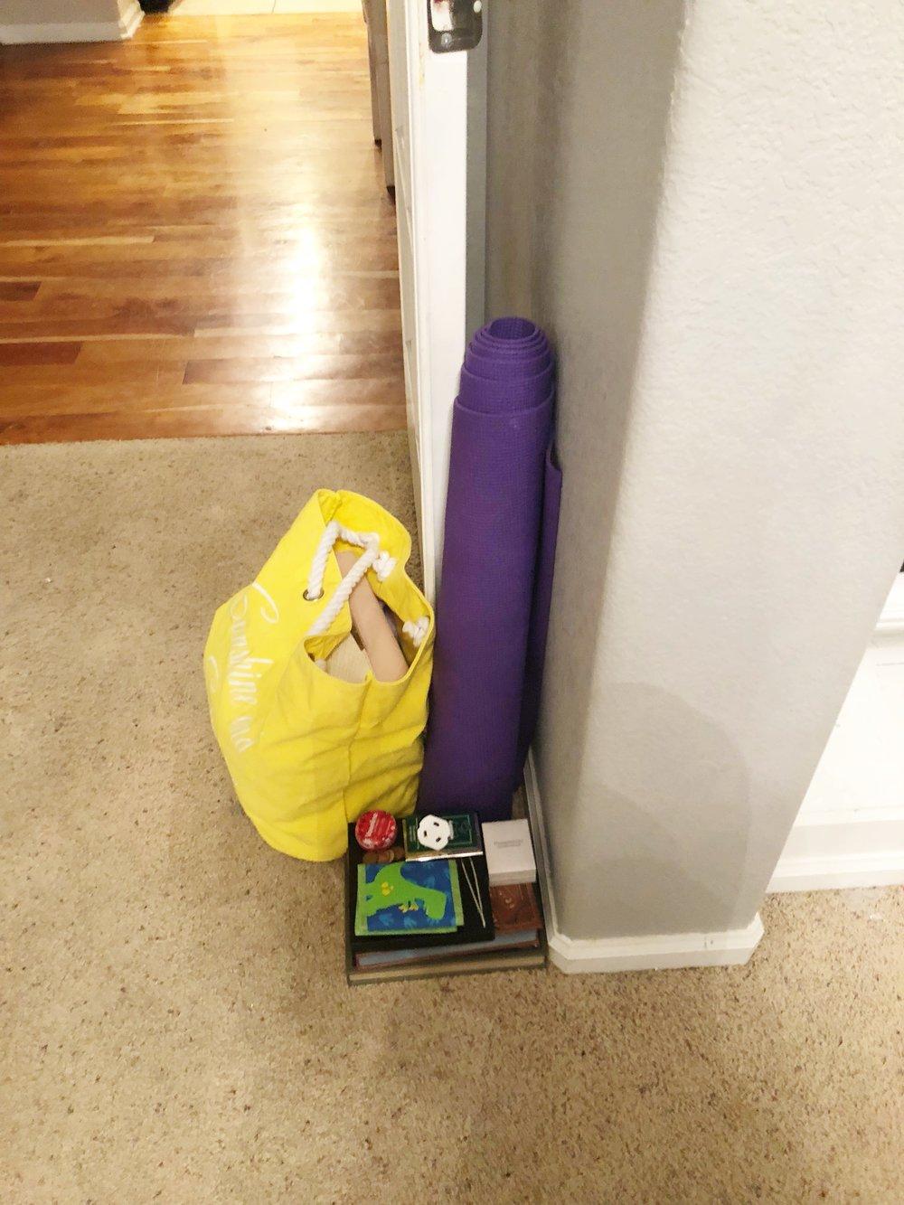 "The ""put it away where it really belongs"" pile. Ha!"