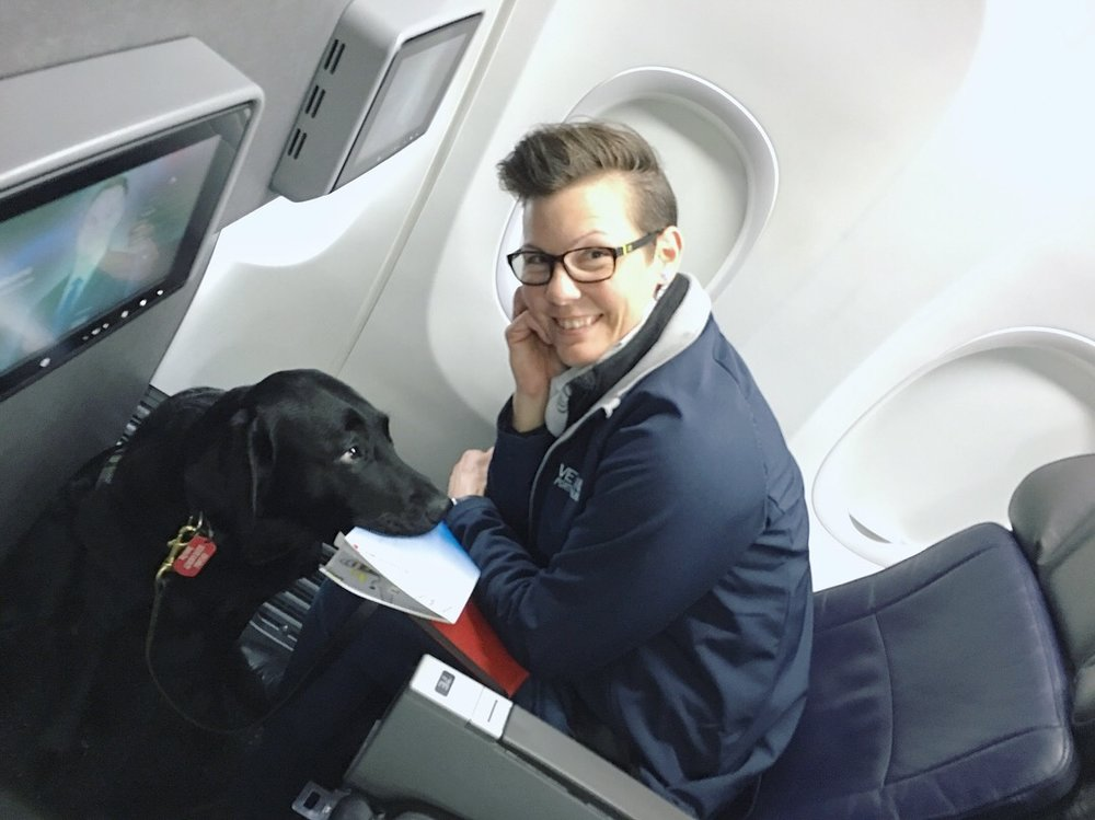 Service Dogs and ESAs are allowed on flights