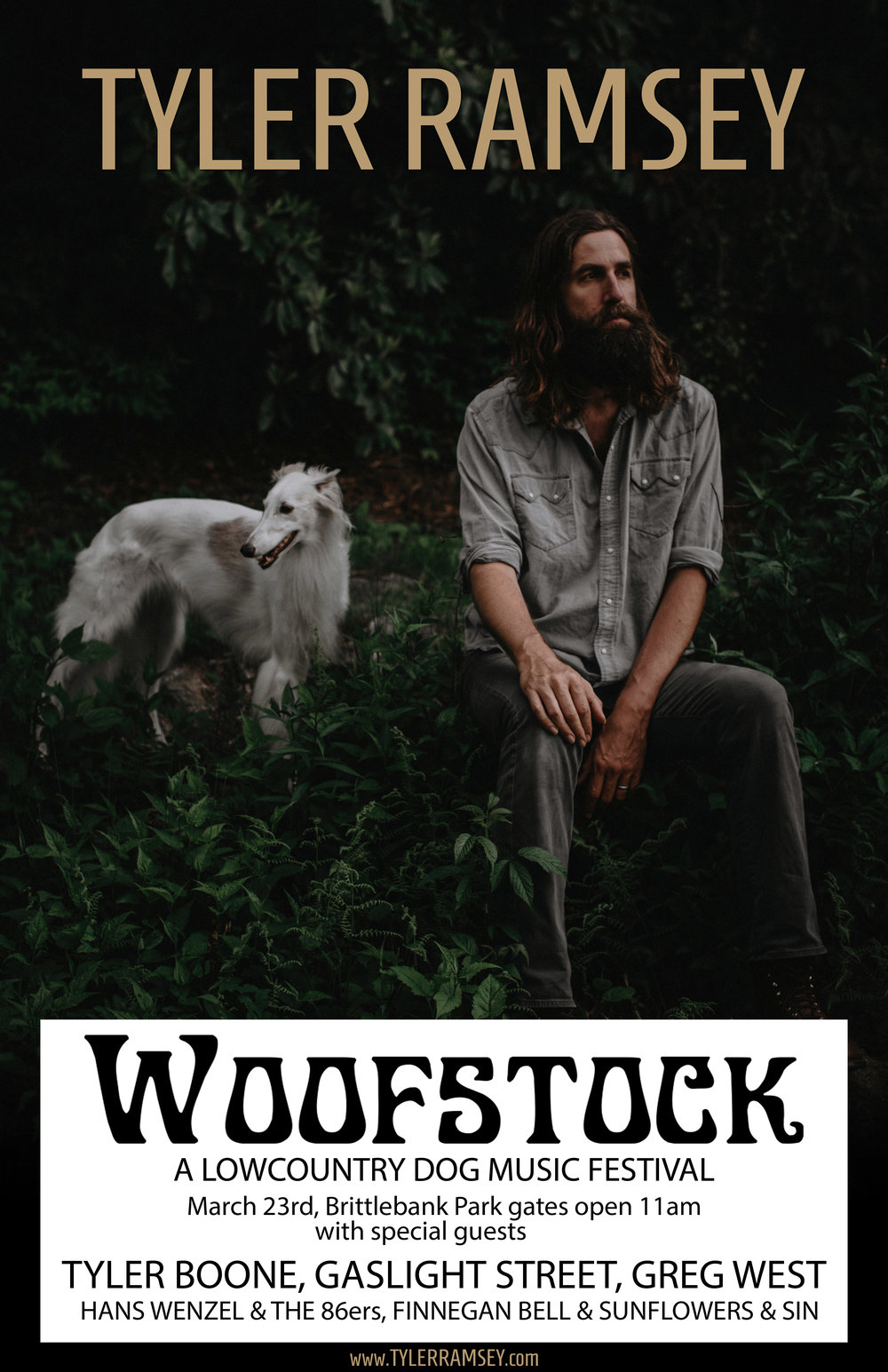 Tyler Ramsey, formerly of Band of Horses will be headlining Woofstock.