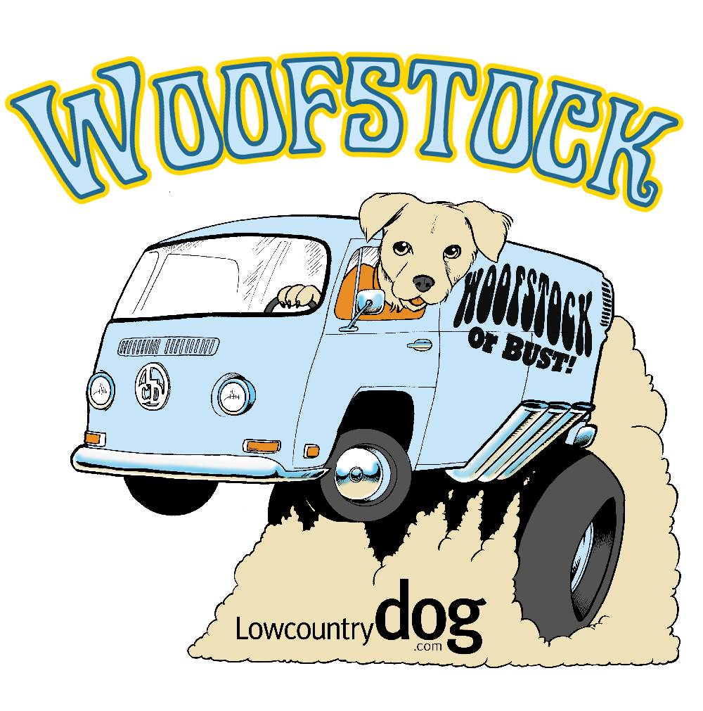 LOWCOUNTRY DOG MAGAZINE WILL BE GIVING AWAY 2 FREE TICKETS TO WOOFSTOCK AT VALEN-DOG'S DAY!
