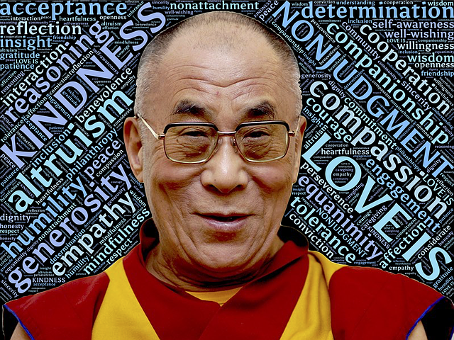 His Holiness the Dalai Lama, photo courtesy of Pixabay