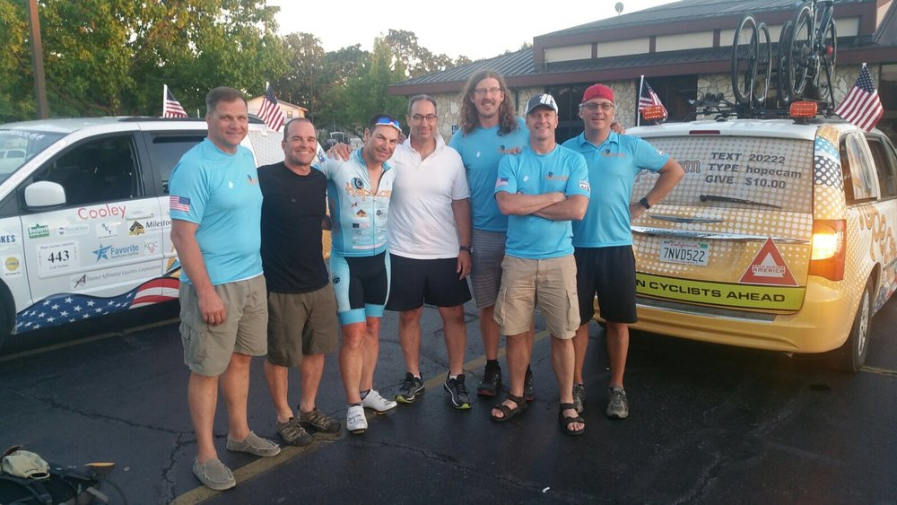 Len with some of the 2012 RAAM Crew