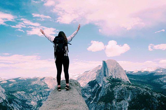 NEW YOUTUBE VIDEO! Link in bio 👆🏼#glacierpoint #yosemitenationalpark #youtube #vlogger
