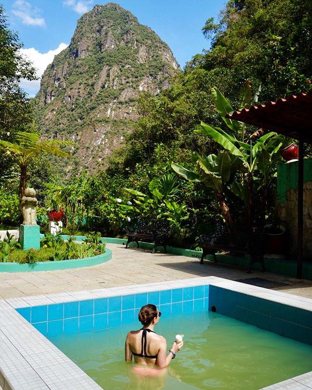 Hot springing in Machu Picchu 🌀 #machupicchu #hotsprings #aguascalientes #peru