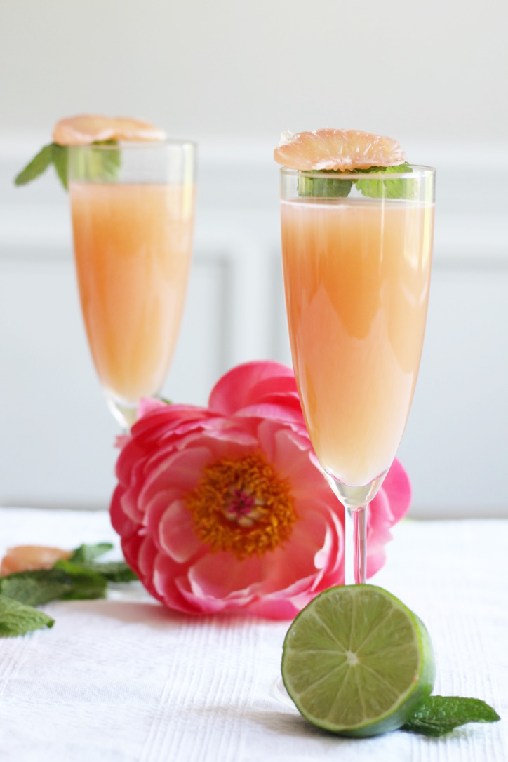 Grapefruit Fizz Cocktail - So Dressed Up