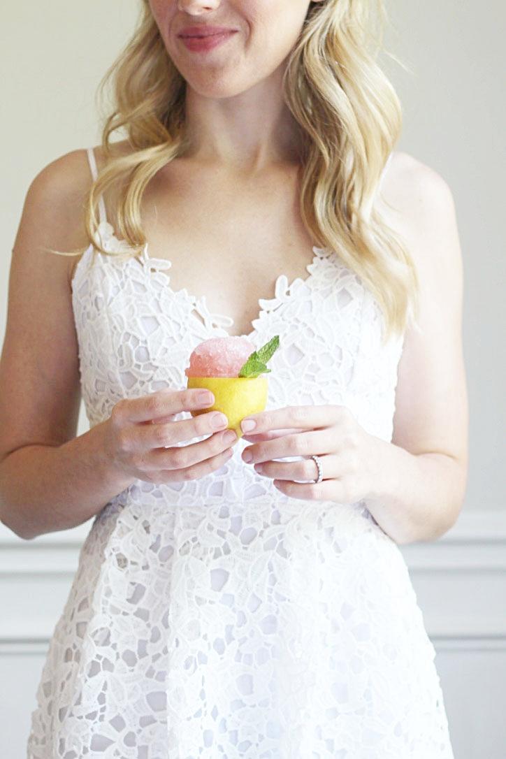 Rosé Lemon Sorbet