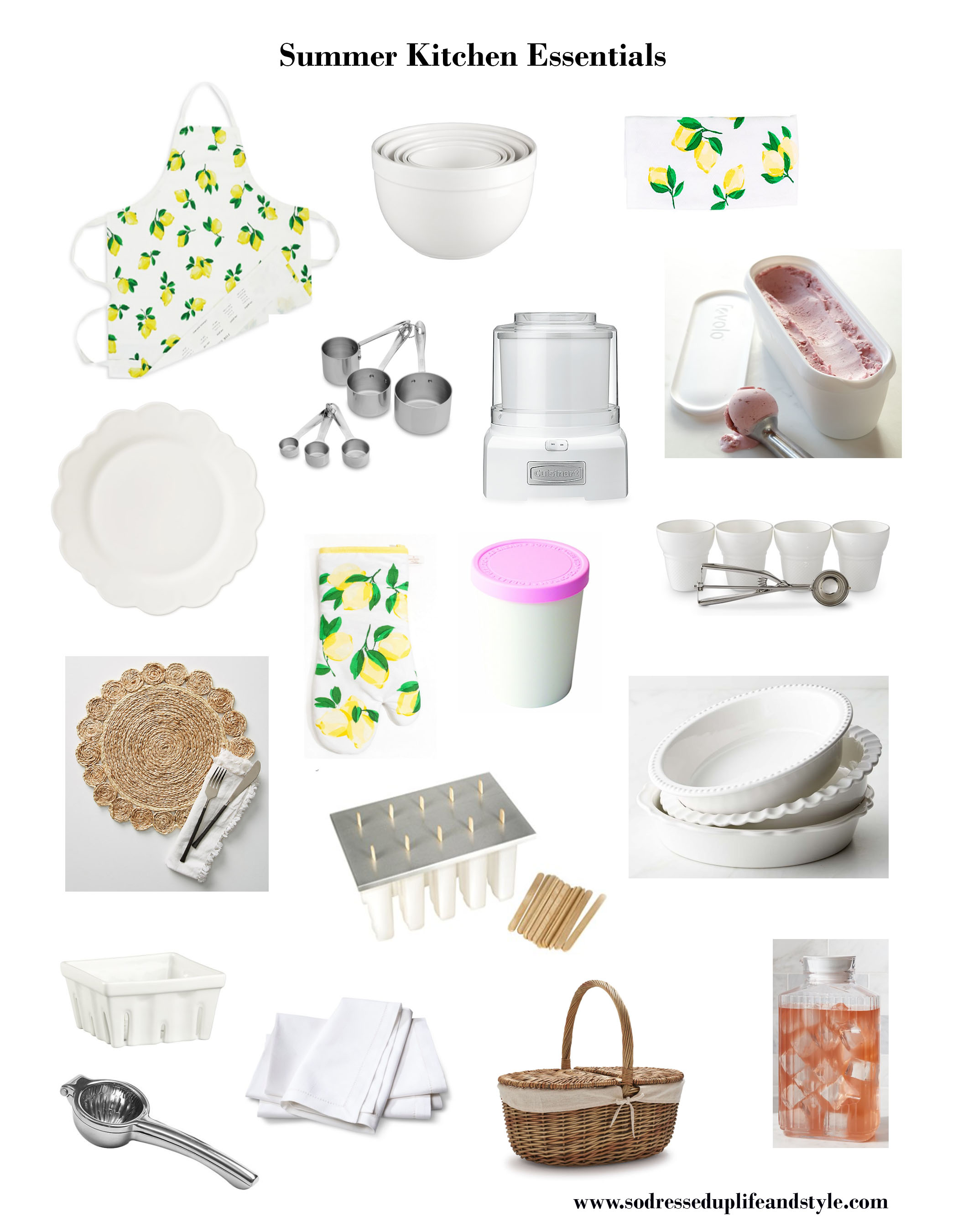 18 Summer Kitchen Essentials — So Dressed Up Life Style