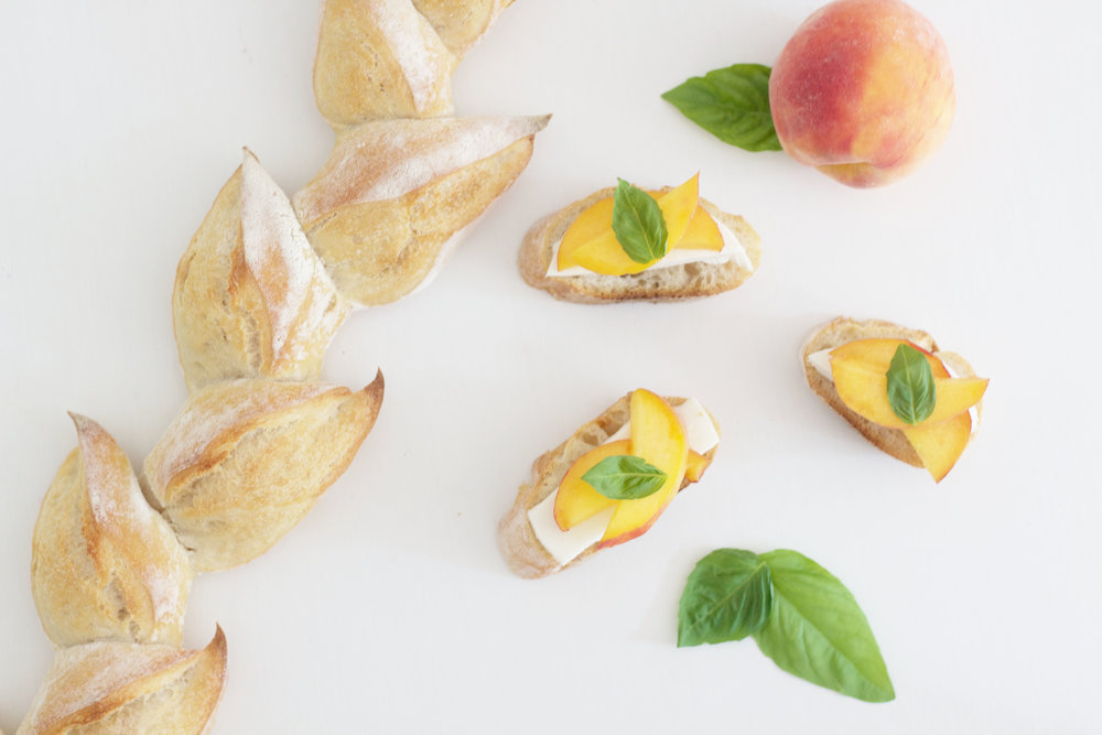 Peach Bruschetta So Dressed Up