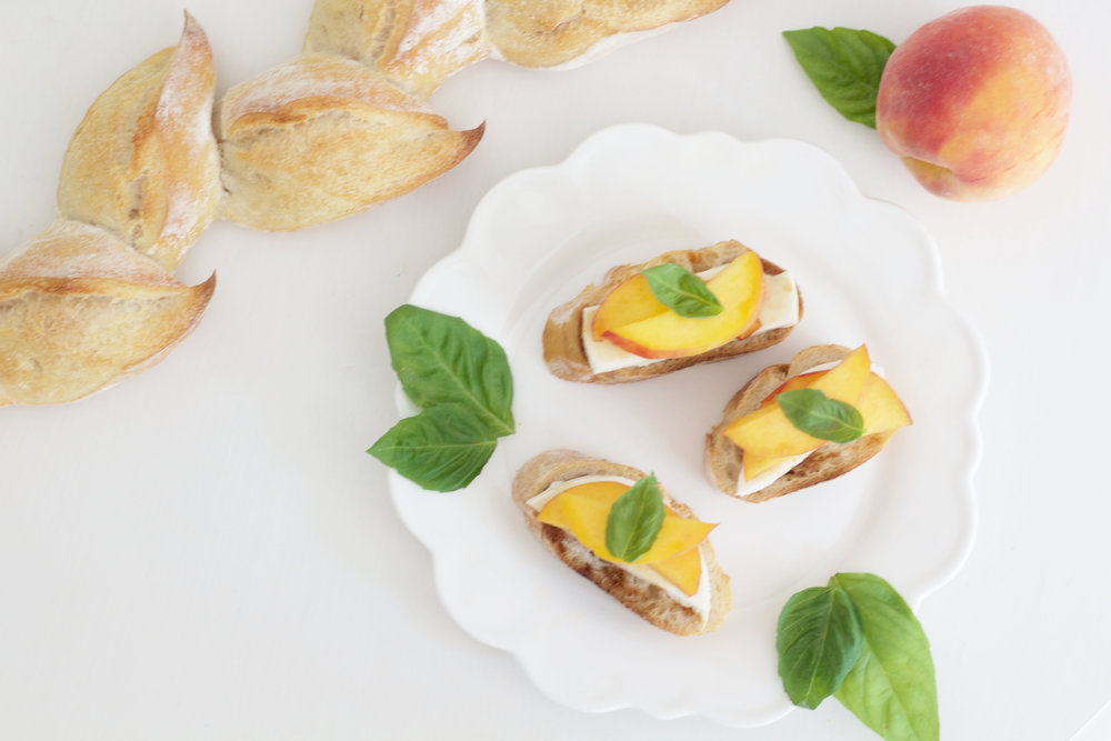 Peach and Mozzarella Bruschetta So Dressed Up