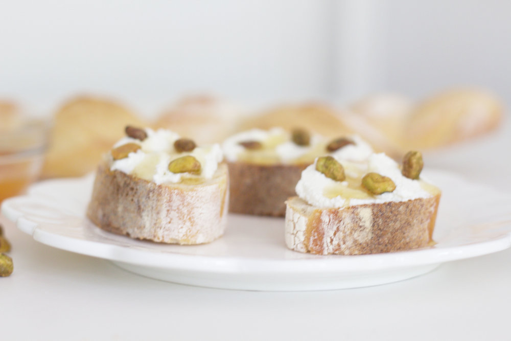 Ricotta and Honey Bruschetta, So Dressed Up