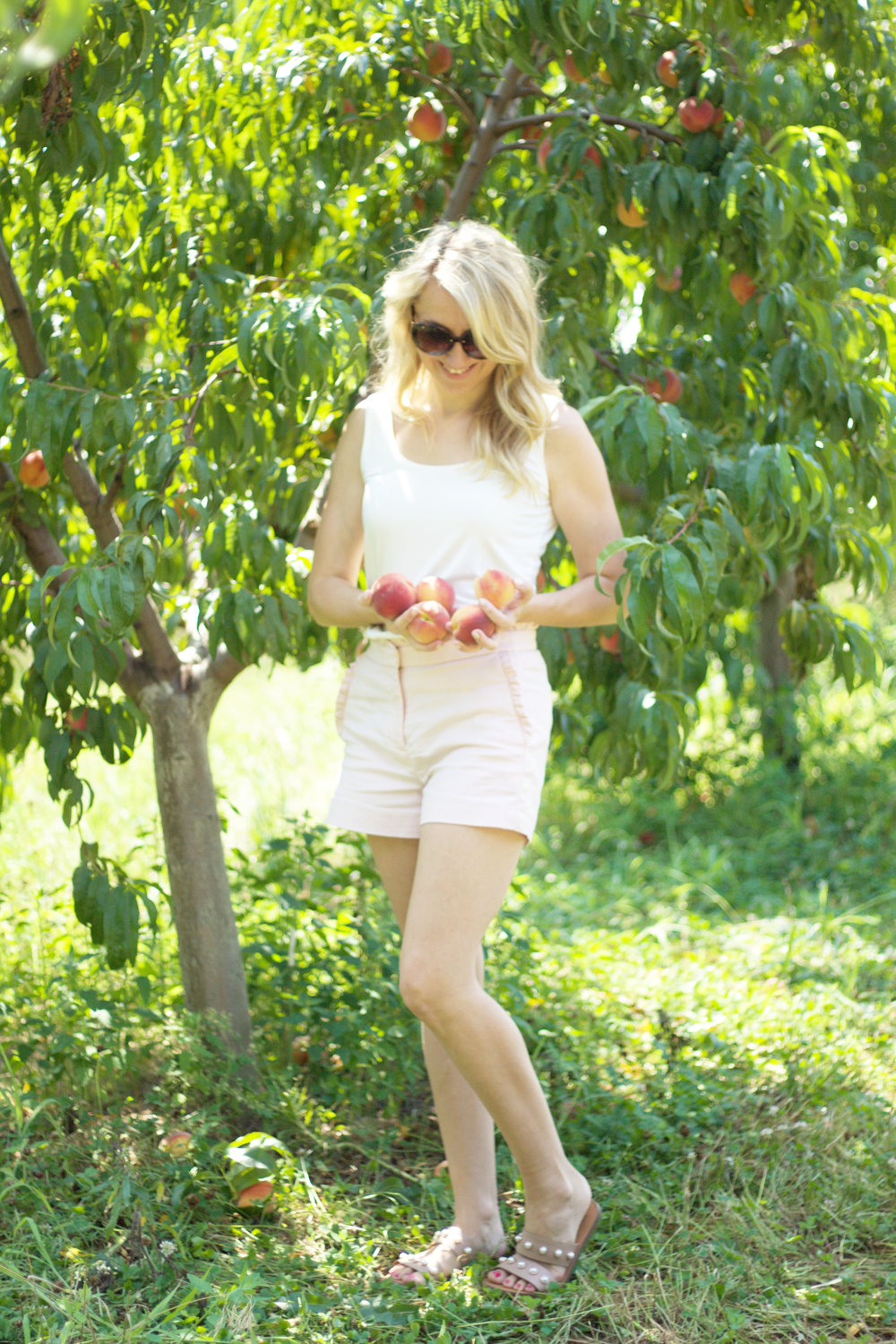Peach Picking So Dressed Up