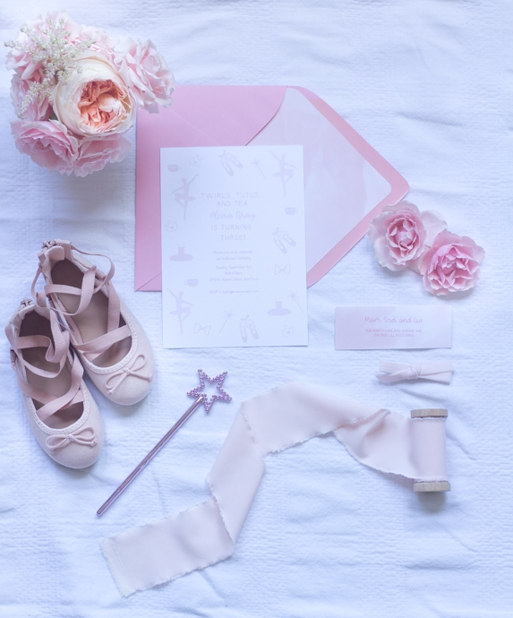 Ballerina Birthday Party Invitation So Dressed Up