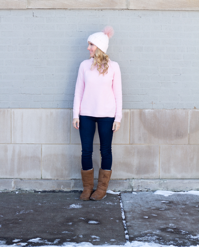 So Dressed Up Pink JCrew Bow Sweater (17 of 18).jpg