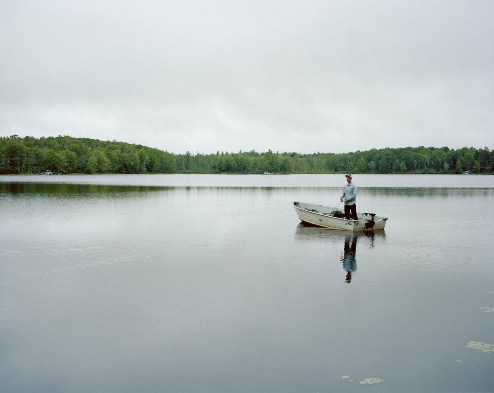 Cousin Rob fly-fishing at dawn
