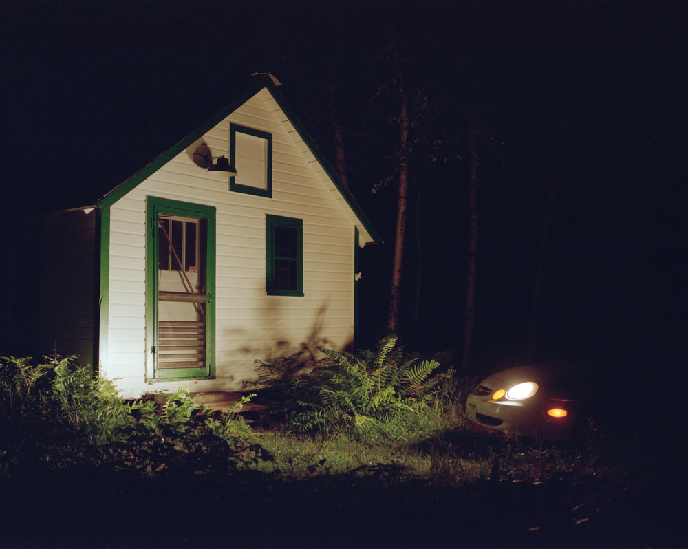 The sugar house at night