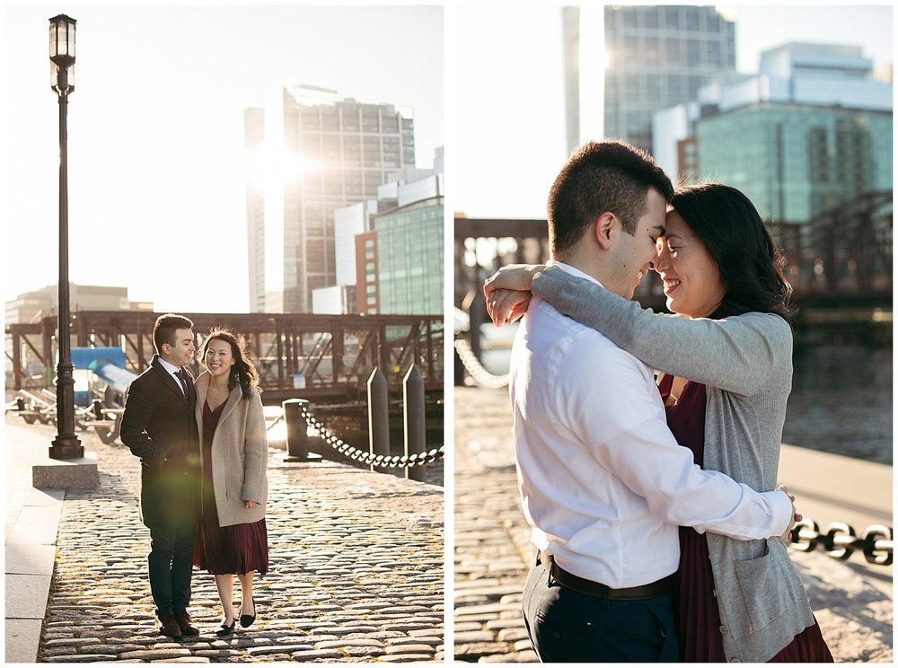 Boston Harbor engagement