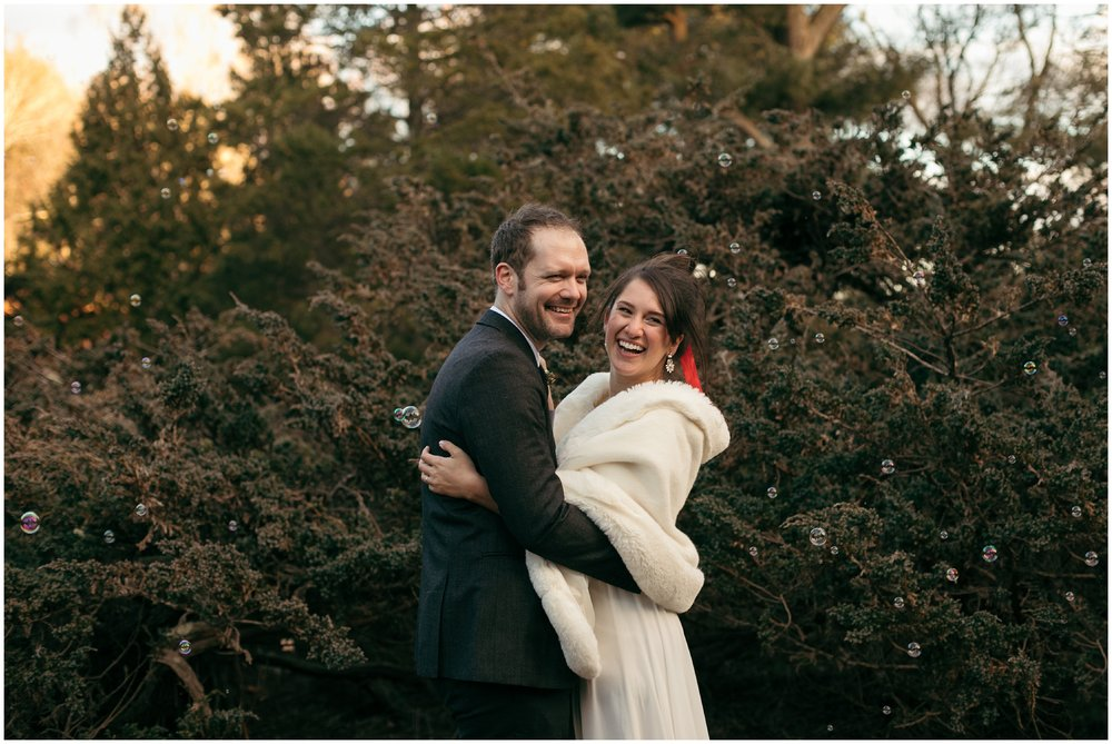 Massachusetts wedding in the woods