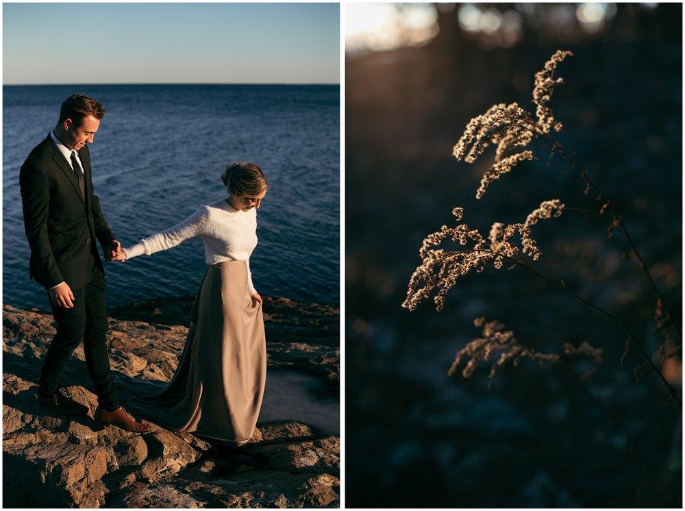 New England seaside elopement