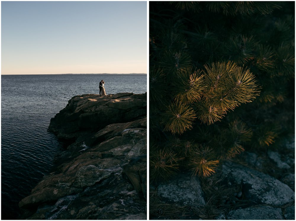 Intimate coastal elopement