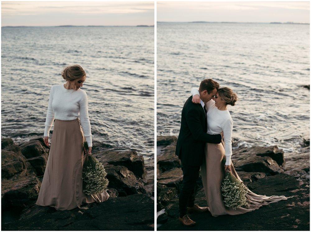 Bohemian elopement on the ocean