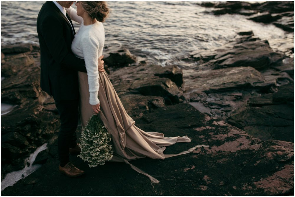Boho seaside elopement
