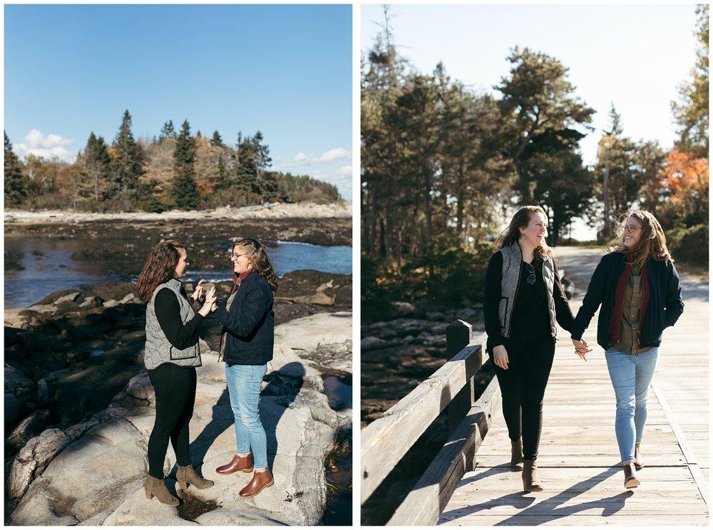 Lesbian proposal Maine