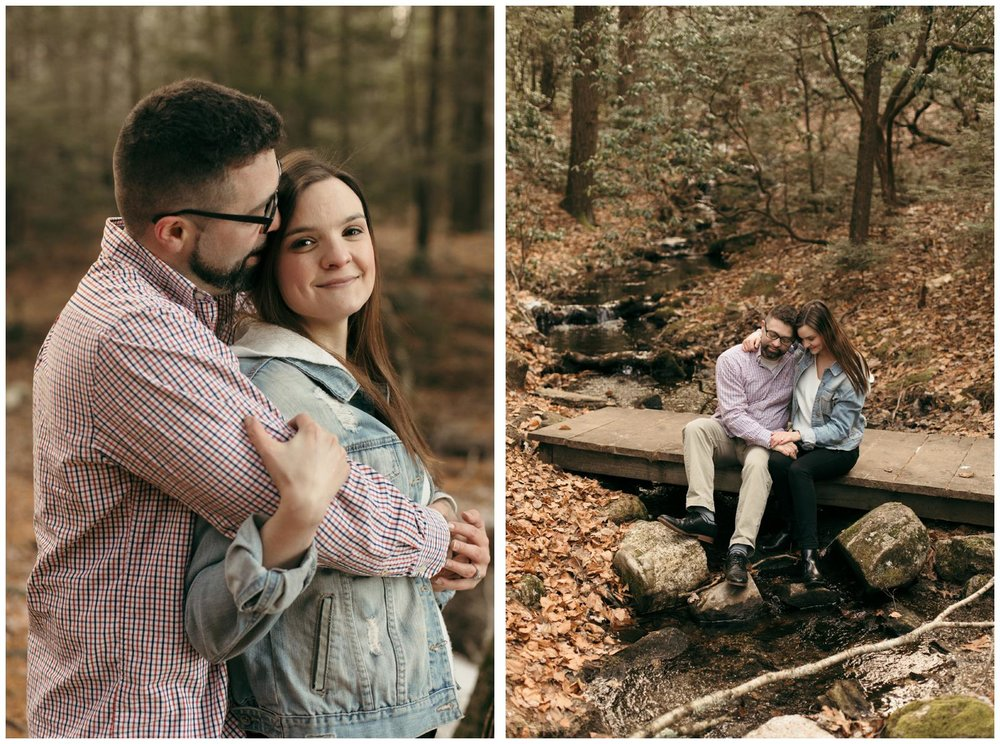winter engagement session CT