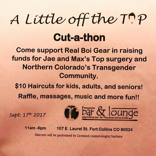 Come support Jae and Max, we would love to see you this Sunday!  Eat brunch, get your hair did!