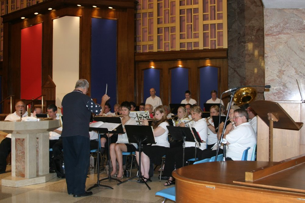 Ed Ward conducting the Independence Day Band