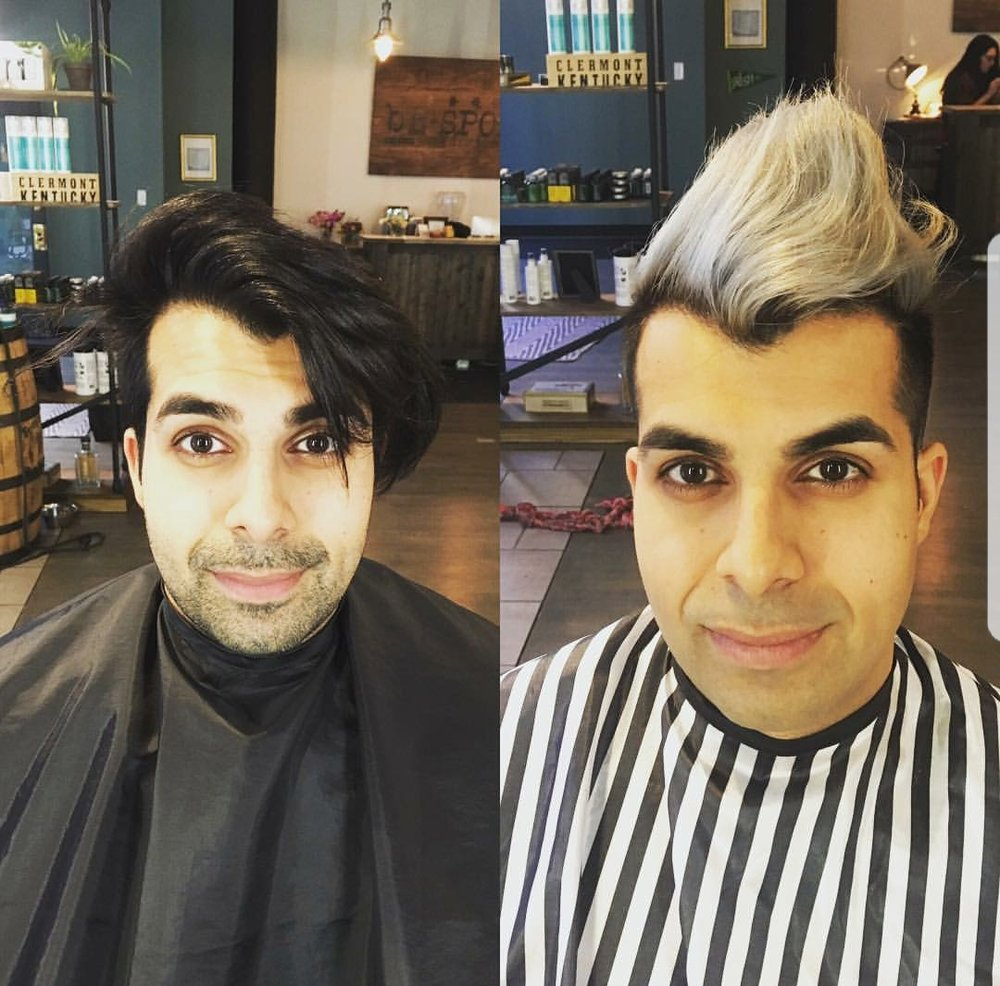 Cassie Juanita, owner and stylist, created this root extender bleach and tone on Kamal.