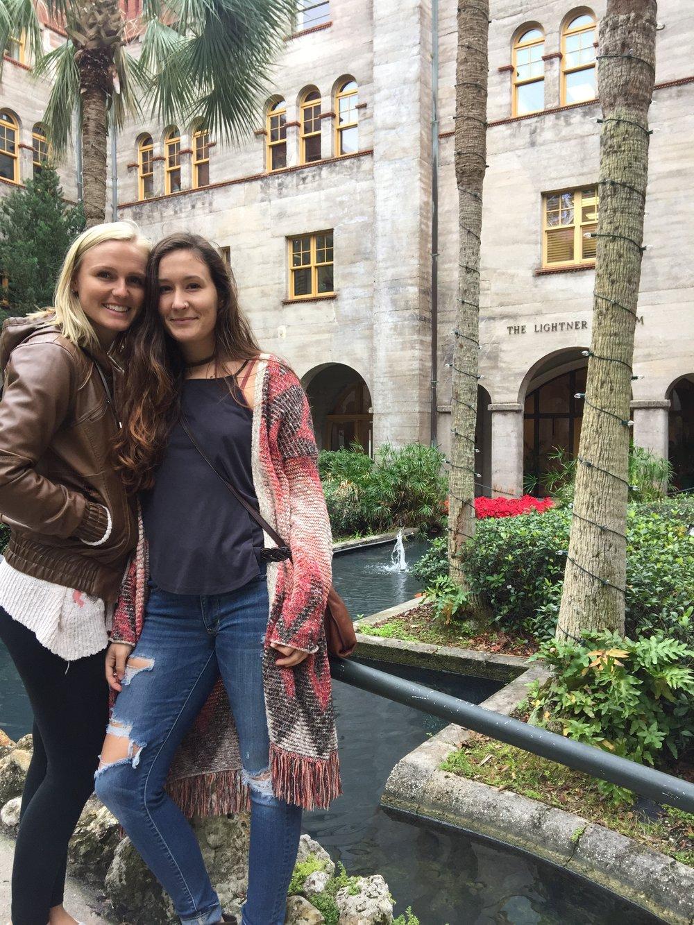 Mandy and Stephanie in The Lightner Museum Garden