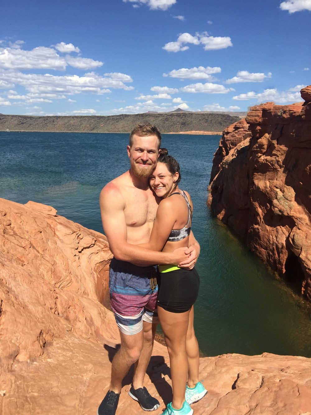 Blake and I enjoying the view in Sand Hollow.
