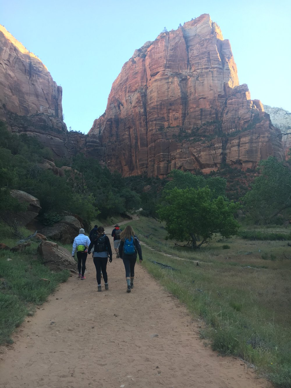 The approach to Angels Landing