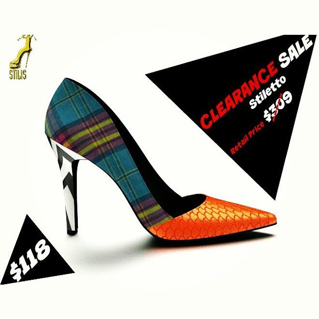 Hey Stiltsaholics!!! We have a big CLEARANCE SALE on one stiletto shoe that is a one of a kind design. The retail price is $309.99 and NOW IT'S $118.00. Only one size 9 available last pair. If you are a size 9 purchase today this will not last long. You could inbox me or send me a email:stiltsshoes@gmail.com #stiltsshoes #stiltsaholics #stiltslookbook #stiltsshoescollection #shoeporn #springsandals #nyfw #custommadeshoedesign #uk #ukfashion #milanfashion #milan #fashionkilla #stiltsaholics #stiltslookbook #fashionblogger