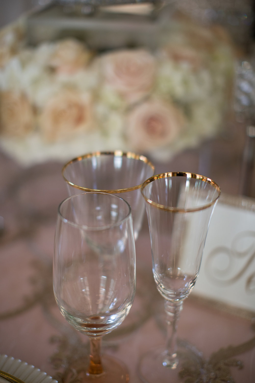 Brazilian Court Palm Beach Wedding Event Inspiration Tablescape Romantic Champagne