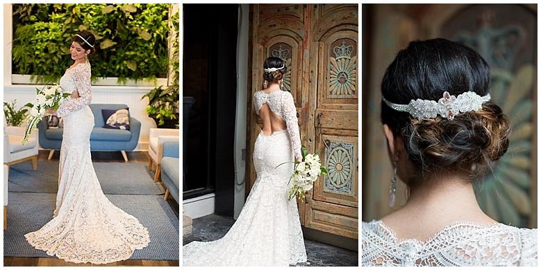 Bowery Palm Beach Wedding Inspiration Wedding Dress Bride