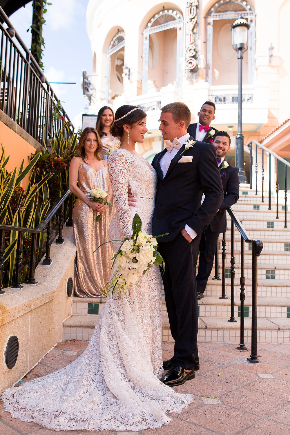 I love this shot on the beautiful steps of CityPlace. This Bridal Party was wonderful!