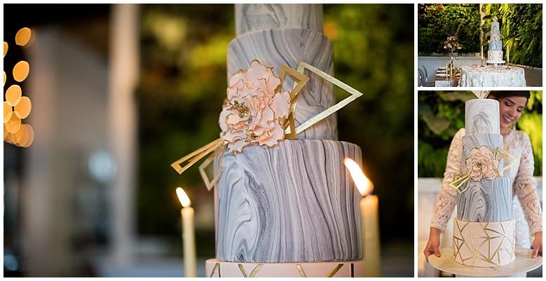 Marble Wedding Cake Palm Beach Wedding