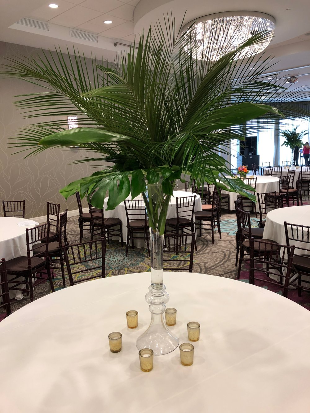 American Cancer Society Gala North Palm Beach Havana Nights Tall Tropical Centerpiece