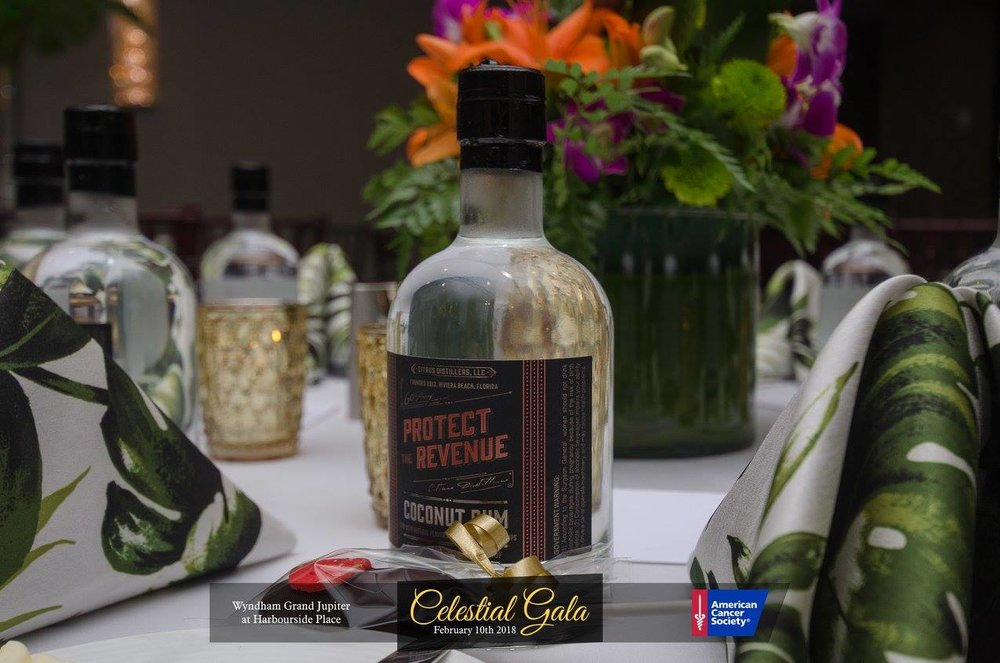 American Cancer Society Gala North Palm Beach Havana Nights Tablescape Coconut Rum