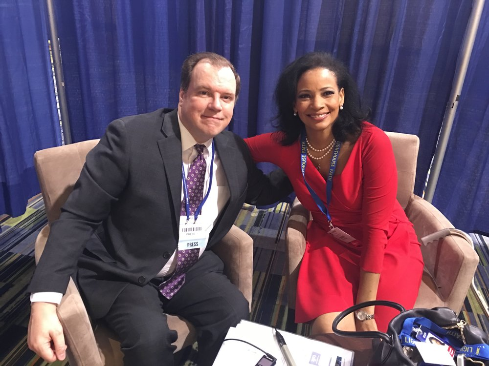 Lauren Green with Paul Ladd (left)   NRB National Religious Broadcaster's Convention. Proclaim 17 in Orlando, FL