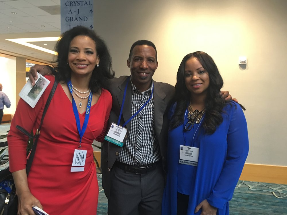 Lauren Green and Riva Tims (right) at NRB National Religious Broadcaster's Convention. Proclaim 17 in Orlando, FL